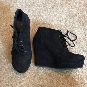 Black 8.5 Shi By Journeys Bootie Lace Up